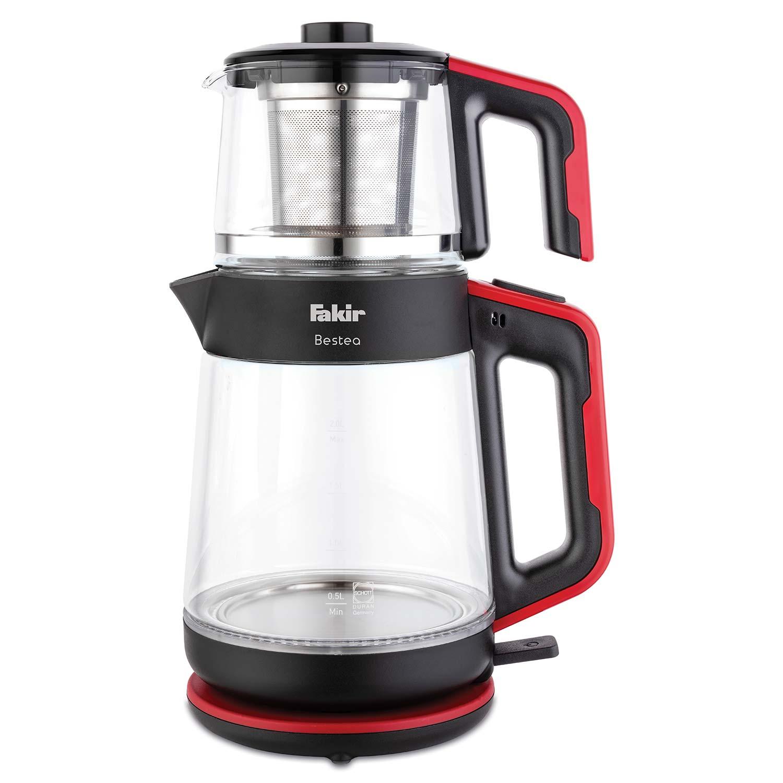 Fakir - Bestea Çay Makinesi Siyah Kırmızı