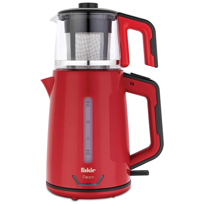 Neon Çay Makinesi Kırmızı Siyah