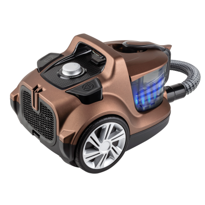 Fakir - Veyron Turbo XL Premium Toz Torbasız Kuru Vakum Süpürgesi Kahverengi